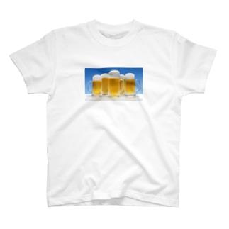 chinoppyのとりあえずビールで T-shirts