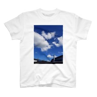 ふぁっショーン blue T-shirts