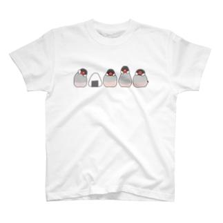 桜文鳥とおにぎり Tシャツ