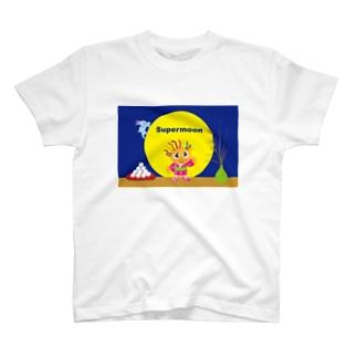 スーパームーンでグッドラックのクレコちゃん T-shirts