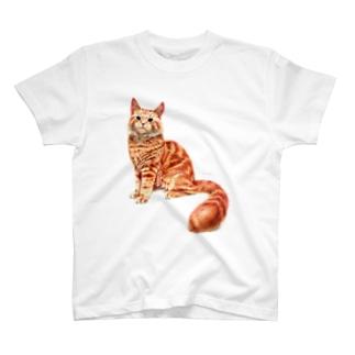 オレンジねこ 〜メインクーン〜 T-shirts