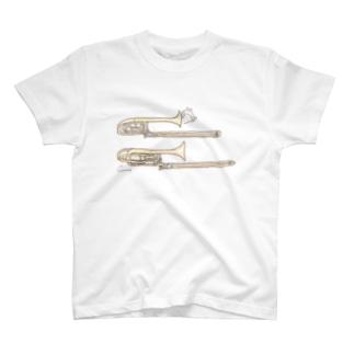 トロンボーンとうさぎ T-Shirt
