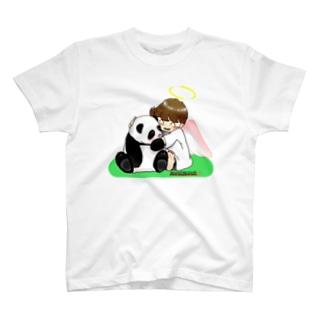 「みな☆の」のパンダちゃん大好き!天使ちゃん T-shirts