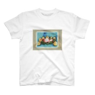 にわとりこけこ・白雪姫ごっこ T-shirts