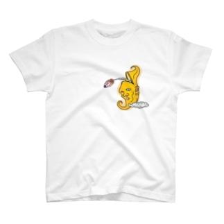 おつきさんロケット T-shirts