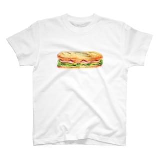 ハムとチーズのサンドイッチ T-shirts