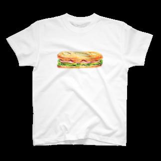 platonicのハムとチーズのサンドイッチ T-shirts
