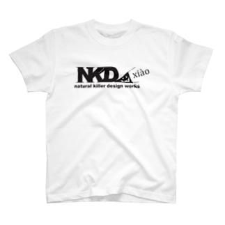 スリスリNKDW(黒) T-shirts