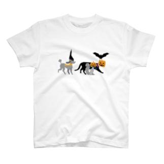 トイプードルのエダマメトイチ Halloween1 T-shirts