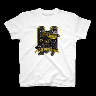 オリジナルデザインTシャツ SMOKIN'の黒豆DJ T-shirts