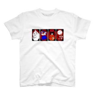 花札モチーフグッズ【改】 T-shirts
