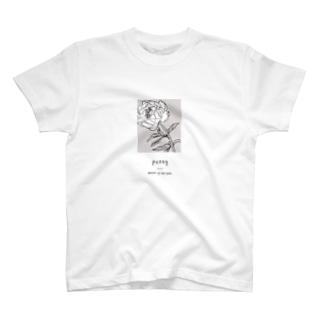 Canacoのpeony_A_White T-shirts