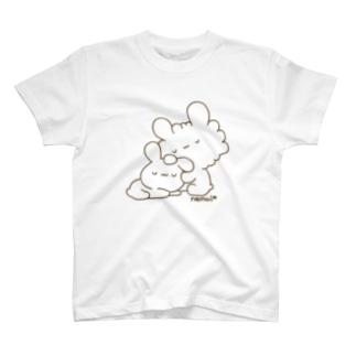 おやすみうさぎ(ブラウン) T-shirts