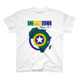 キャプテン☆アフリカ アフリカンシールド (カラー) T-shirts