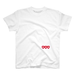 nerugoroの♡ハート T-shirts
