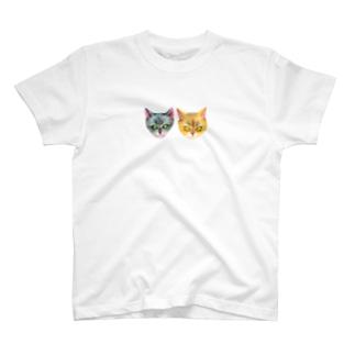 いちごやさんのご一緒にねこ T-shirts