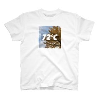 72℃(イチョウver) T-shirts