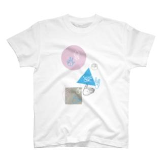手話「まるさんかくしかく」03 T-shirts
