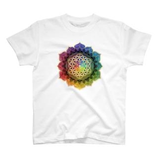 フラワーオブライフ T-shirts