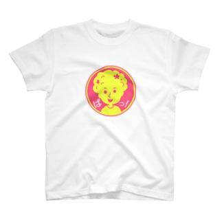 ぱっ!【丸型ツートンカラー】 T-shirts