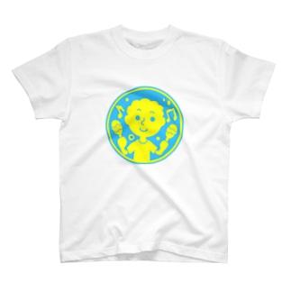 るんるんマラカス【丸型ツートンカラー】 T-shirts
