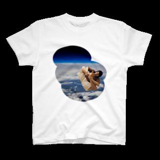 nuwtonのスペースモンゴルナイフ Tシャツ