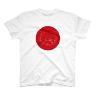 レッサーパンダ(破線) T-shirts