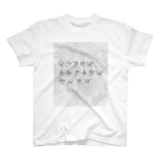 3つの山(複雑mix) T-shirts