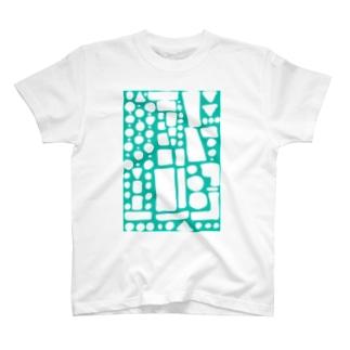 翡翠ぽたぽたぽふぽふ T-shirts