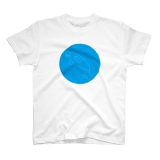 ジュゴン(破線) T-shirts