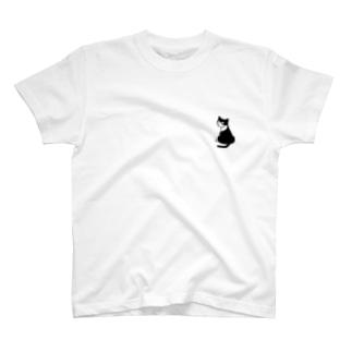 ふりむきにゃんこ T-shirts