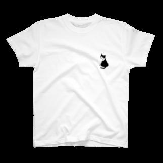 ひなこのふりむきにゃんこ T-shirts