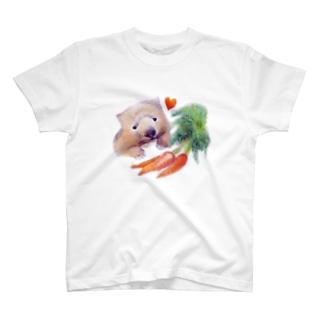 はらぺこウォンバット T-shirts
