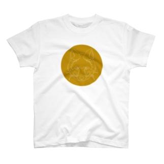キツネ(破線) T-shirts