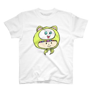 世紀末事件のさるのかぶりもの少女 T-shirts