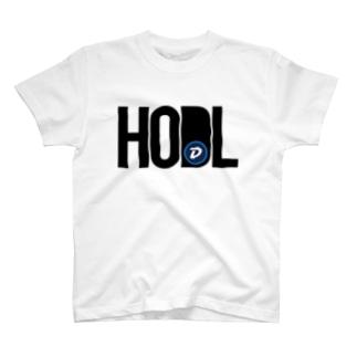HODL DGB blackfont T-shirts