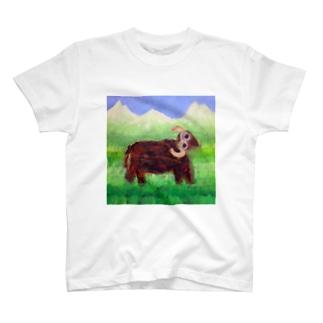 【Glamorous Life 】祖父との思い出の油絵 T-shirts