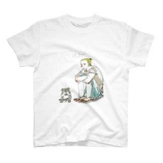 外国人と犬 T-shirts