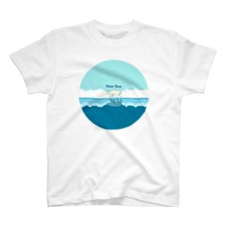 ホッキョクグマ マル T-shirts