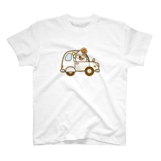 ハクマイさんの軽自動車 T-shirts