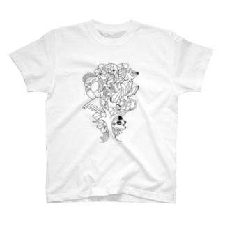 HAL-HIの動物の木 T-shirts