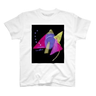 夜のゴールデンうんこ金魚 T-shirts