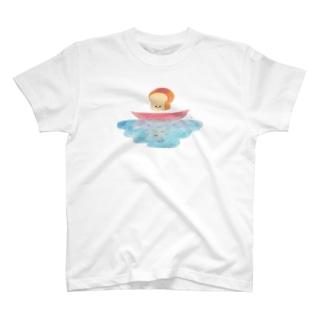 川と山食くん T-shirts