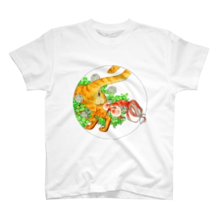 猫とたまたまと水泡眼 T-shirts