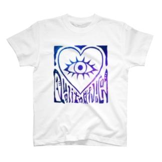 Tシャツ - H 宇宙(白地) T-shirts