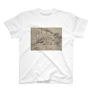 夢応の鯉魚L T-shirts