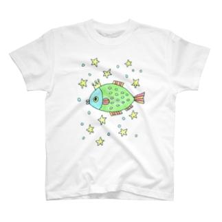 空飛ぶ魚 T-shirts