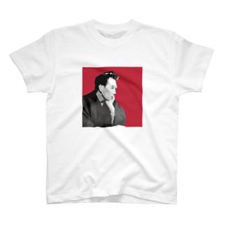 文豪・太宰くん赤 T-shirts