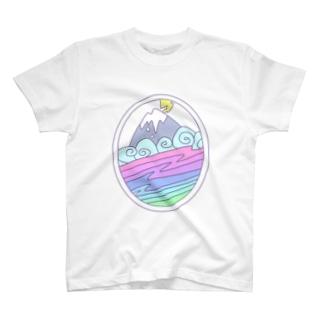 SKI blizzard rainbow T-shirts