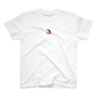 機嫌の悪いシマシロ猫 T-Shirt